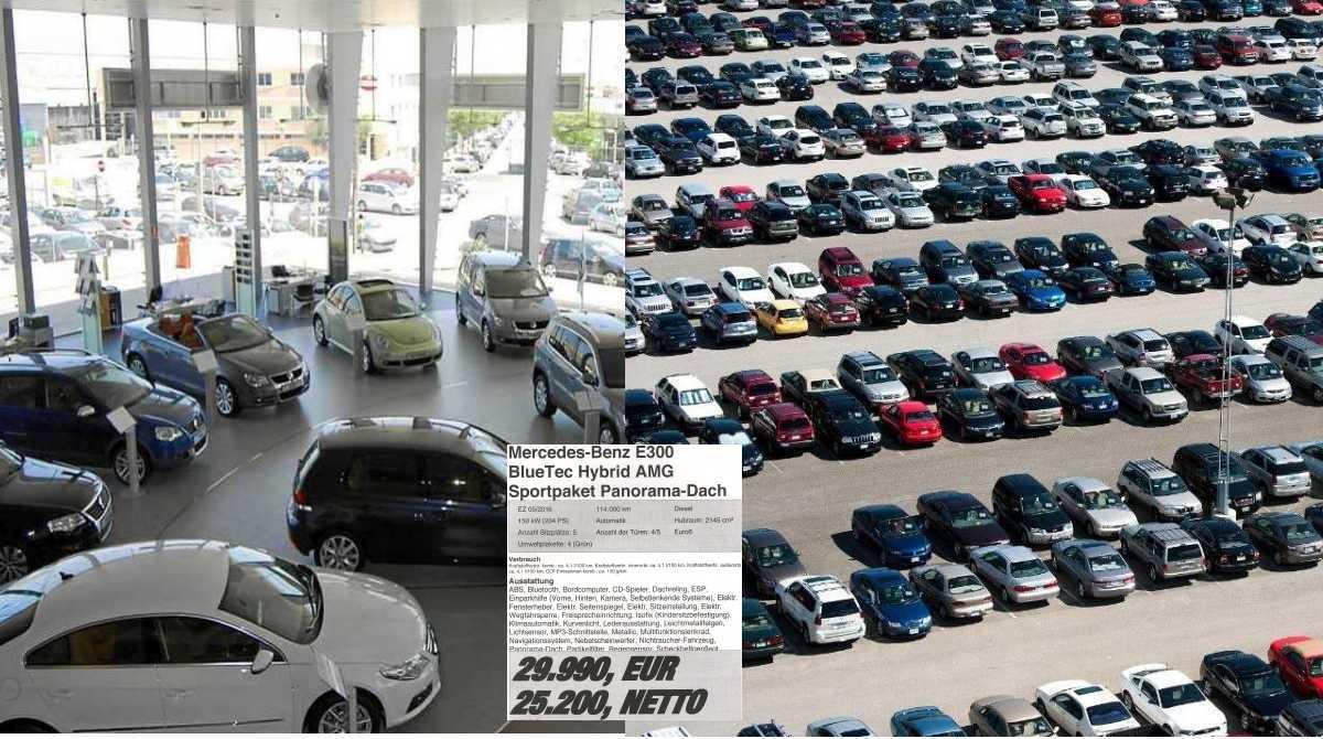 Exposicion coches y explanada coches al aire libre