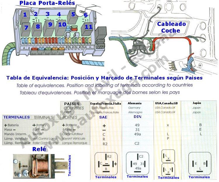 Rel 233 S Cableado Y Equivalencias