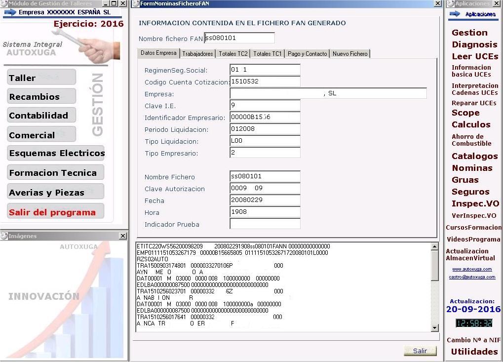 Envio fichero nominas y cotizaciones a la seguridad social
